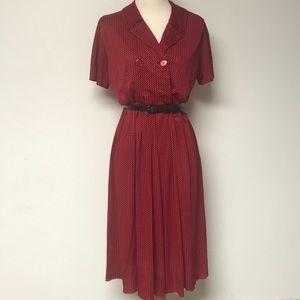 Vintage 1960's Houndstooth Dress